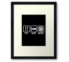 EAT - SLEEP - MOVIES Framed Print