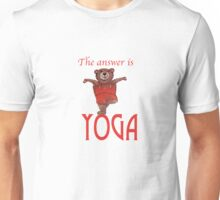 The answer is YOGA Unisex T-Shirt