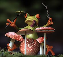 Froggy Shroom Jam by Randy Turnbow