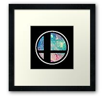 Galactic Smash Bros. Final destination Framed Print