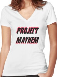 Project Mayhem Women's Fitted V-Neck T-Shirt
