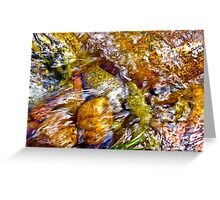 Gore Creek Abstract 1 Greeting Card
