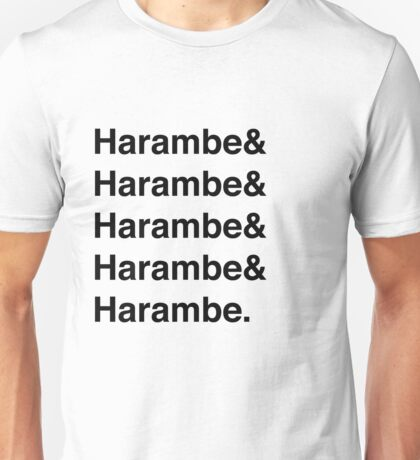 Harambe Helvetica  Unisex T-Shirt