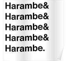 Harambe Helvetica  Poster