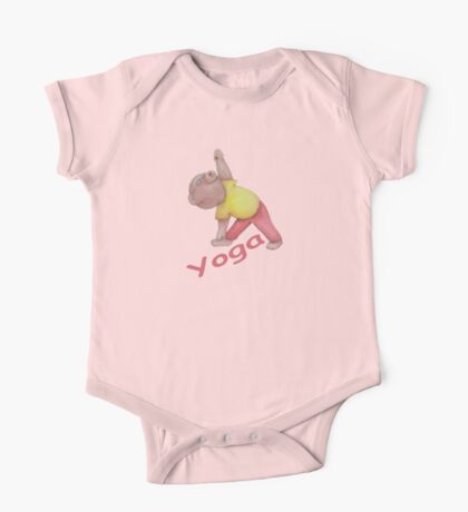 Flexible Yoga Bear in triangle pose One Piece - Short Sleeve