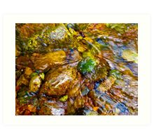 Gore Creek Abstract 26 Art Print