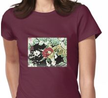 OLD-FASHIONED FLOWERS Womens Fitted T-Shirt