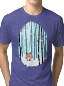 Fox in the Forest Tri-blend T-Shirt