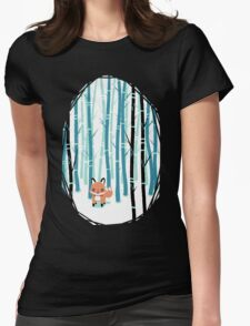 Fox in the Forest Womens Fitted T-Shirt