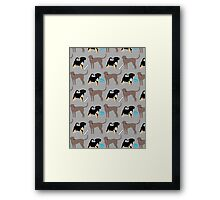 Dogs and Toys Framed Print