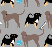 Dogs and Toys Sticker