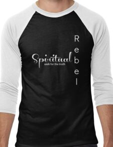 Spiritual Rebel (Black Edition) Men's Baseball ¾ T-Shirt