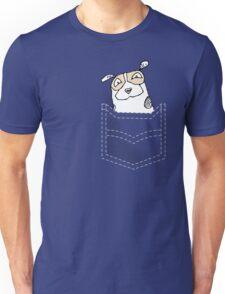 Happy dog in pocket Unisex T-Shirt