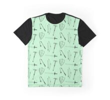 Medieval Weaponry (green) Graphic T-Shirt