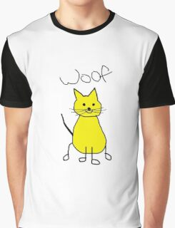 WOOF..THE CAT Graphic T-Shirt