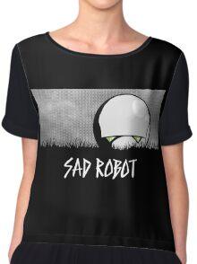 Sad Robot Chiffon Top