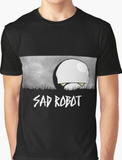 Sad Robot Graphic T-Shirt