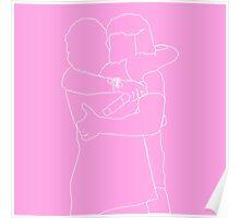 The Lug Outline (Pink) Poster