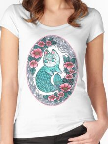 Mermaid kitty  Women's Fitted Scoop T-Shirt