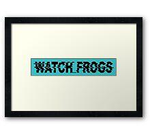 Watch_Frogs Framed Print