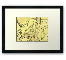 whose driving Framed Print