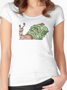 Zombie Snail Women's Fitted Scoop T-Shirt