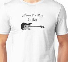 Play guitar black Unisex T-Shirt