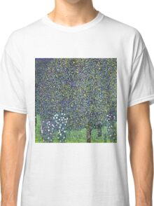 Gustav Klimt - Roses Under The Trees  Classic T-Shirt