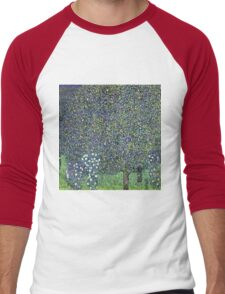 Gustav Klimt - Roses Under The Trees  Men's Baseball ¾ T-Shirt