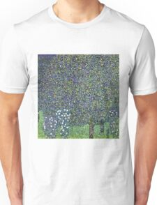 Gustav Klimt - Roses Under The Trees  Unisex T-Shirt