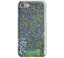 Gustav Klimt - Roses Under The Trees  iPhone Case/Skin
