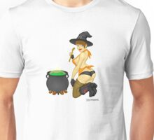 Hazel - a naughty witch monster pinup! Unisex T-Shirt