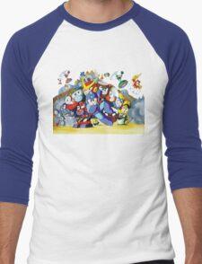 Mega Man 2 Famicom (NES) Japanese Box Art Men's Baseball ¾ T-Shirt