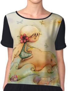 dolphin ride Chiffon Top