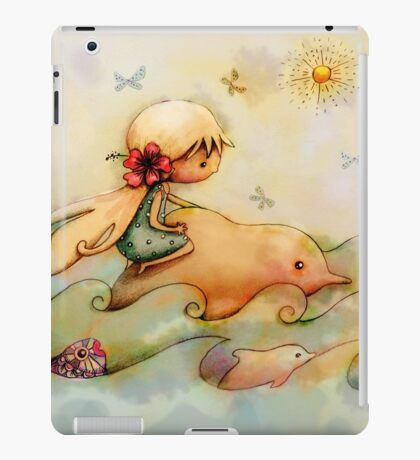 dolphin ride iPad Case/Skin
