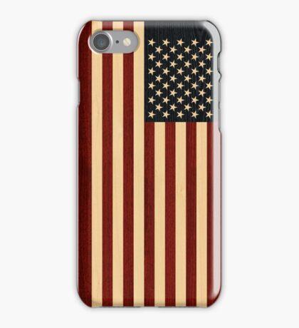 USA FLAG WOOD iPhone Case/Skin