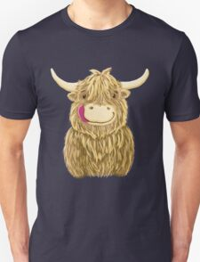 Cartoon Scottish Highland Cow Unisex T-Shirt