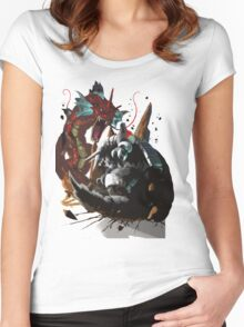 Graphic Aggron vs Gyarados Women's Fitted Scoop T-Shirt