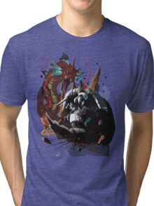 Graphic Aggron vs Gyarados Tri-blend T-Shirt