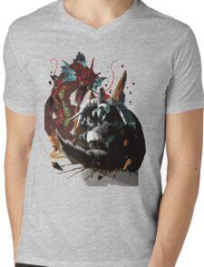 Graphic Aggron vs Gyarados Mens V-Neck T-Shirt
