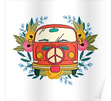Hippie Goes Back To School Poster