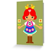 Buntes Folklore-Mädchen Greeting Card