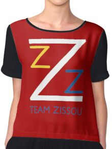 Team Zissou Shirt Chiffon Top