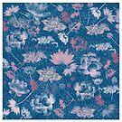 Lotus Duvet Cover, Print, Poster, iPhone Case, Samsung Case, iPad Case, Home Decor, Throw Pillows, Totes by Linda Allan