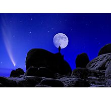 Moonrise Over White Tank Campground. Photographic Print
