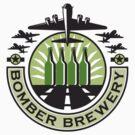 B-17 Heavy Bomber Beer Bottle Brewery Retro by patrimonio