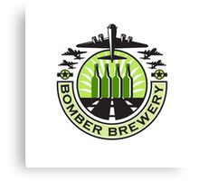 B-17 Heavy Bomber Beer Bottle Brewery Retro Canvas Print