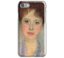 Gustav Klimt - Portrait Of Gerta Loew, 1902 Detal iPhone Case/Skin