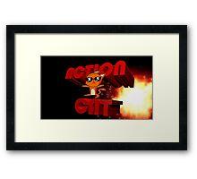 Action Cat Framed Print