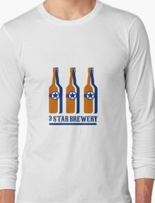 Beer Bottles Star Brewery Retro Long Sleeve T-Shirt